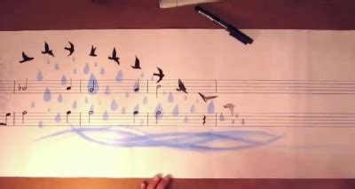 Music painting : video insolite, peindre une partition